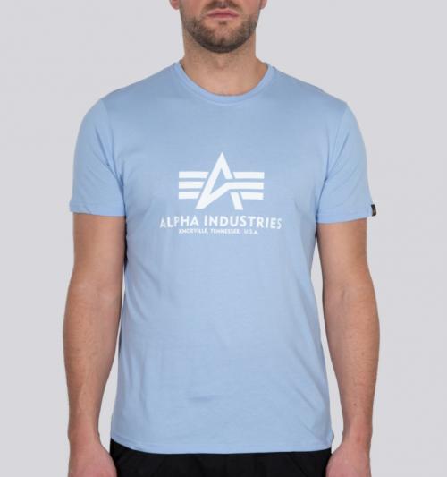 Alpha Industries Basic T-Shirt Light Blue