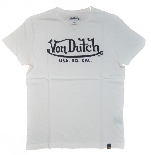 Von Dutch T-Shirt Logo Print White