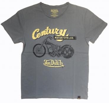 Von Dutch T-Shirt Biker Print Grey