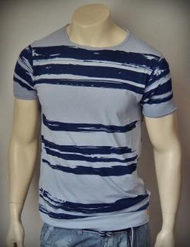 Dstrezzed T-Shirt Painted Stripe Steel Blue