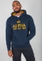 Mobile Preview: Alpha Industries Foam Print Hoodie New Navy