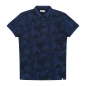 Preview: Dstrezzed Poloshirt Flower Indigo Pique