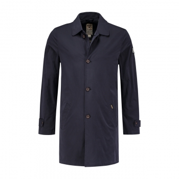Dstrezzed Trenchcoat Micro Nylon Dark Navy