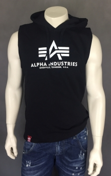 Alpha Industries Basic Hooded Tank Black