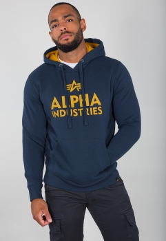 Alpha Industries Foam Print Hoodie New Navy