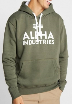 Alpha Industries Foam Print Hoodie Dark Olive