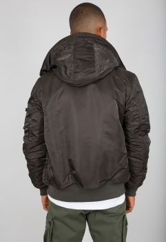 Alpha Industries MA-1 Hooded Black Olive