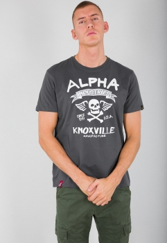 Alpha Industries Skull T Greyblack