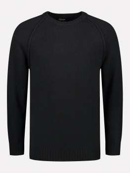 Dstrezzed Strickpullover Crew Cotton/Nylon Black