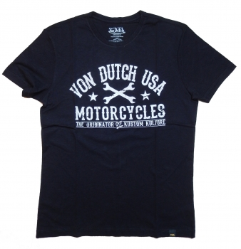 Von Dutch T-Shirt Logo Print Black