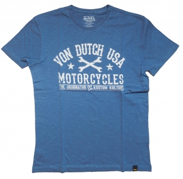 Von Dutch T-Shirt Logo Print Blue
