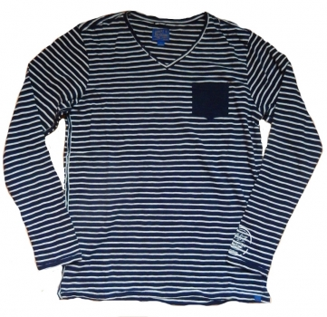 Dstrezzed Strickpullover Navy / Off white