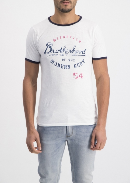 Dstrezzed T-Shirt Brotherhood Graphic White