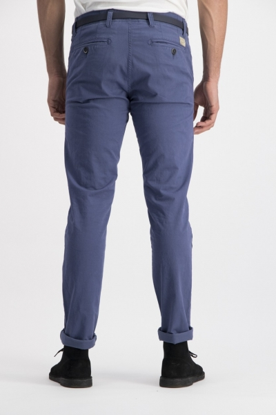 Dstrezzed Chino Pants Stretch Twill Royal Blue